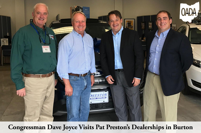 Congressman Dave Joyce Visits Pat Prestons Dealerships in Burton