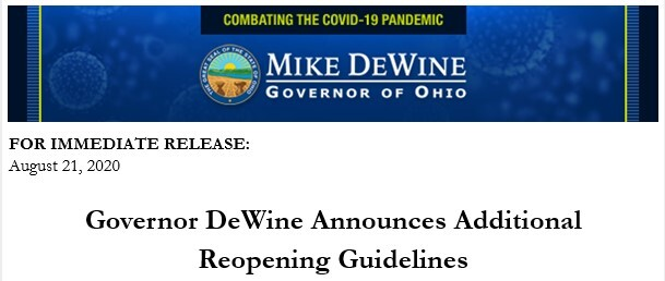 Additional Reopening Guidelines 8 21 20